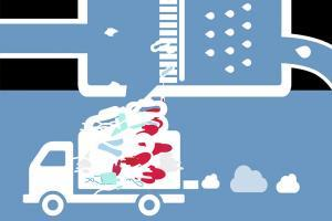 Menstruationsprodukte landen im Müll
