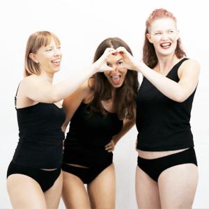 Drei Frauen erzählen Geschichten über Menstruation