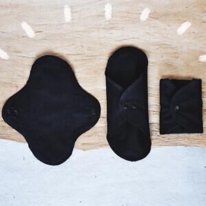 stoffbinden stoffslipeinlagen aus schwarzer bio-baumwolle