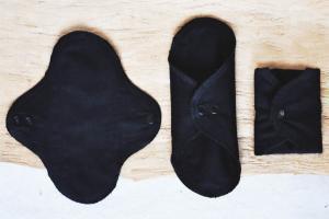 schwarze Stoffbinden Stoffslipeinlagen aus Biobaumwolle