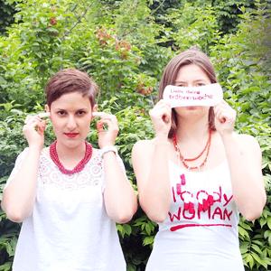 Frauen über Menstruation
