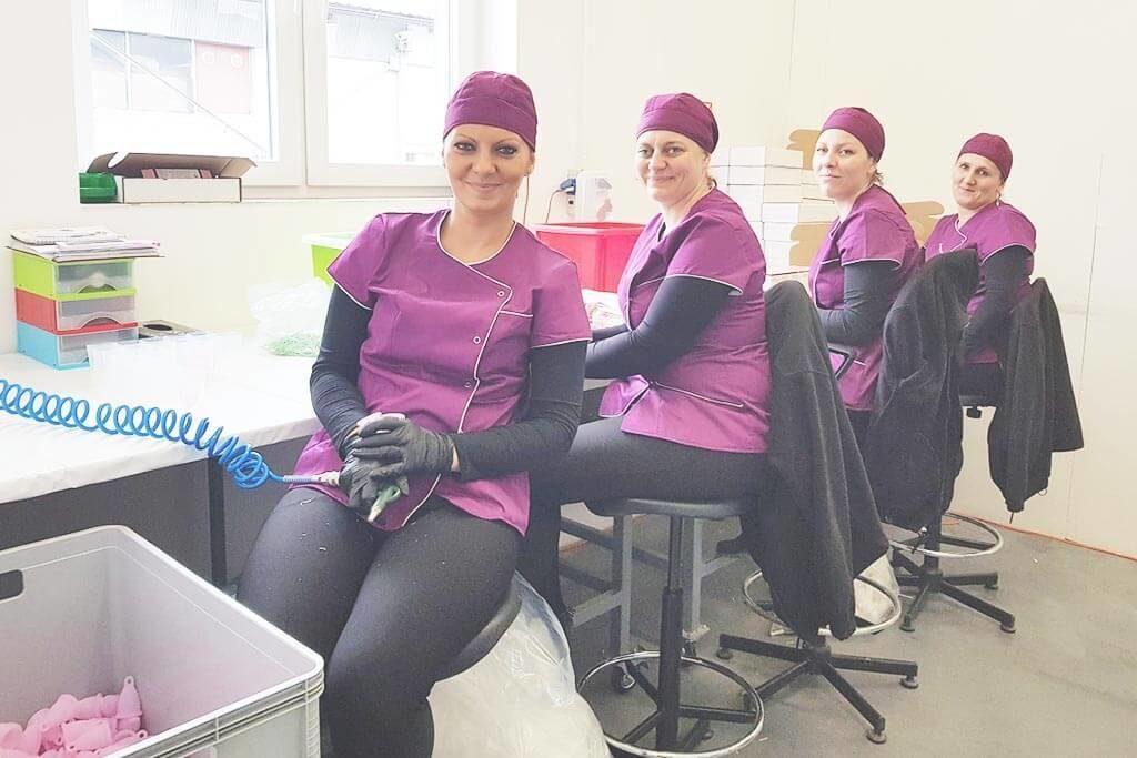 Produktionsstätte Menstruationstasse