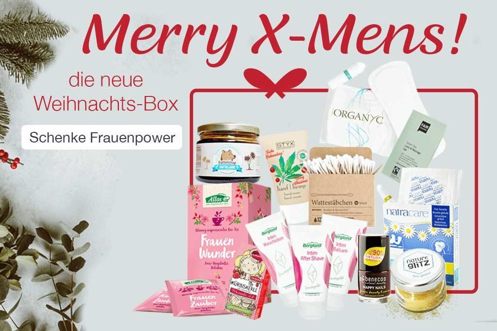 Weihnachtsgeschenkbox Menstruation
