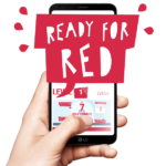 Smartphone mit Ready For Red Menstruations-Lernplattform