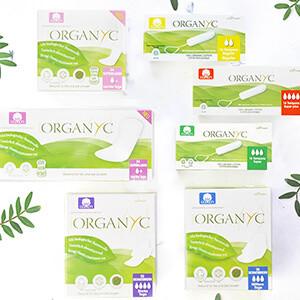 Organyc Produkte Bio-Binden und Bio-Tampons