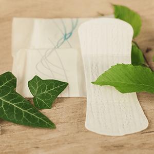 Material von Tampons und Binden